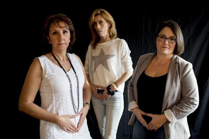 Sergio Gonzalez Valero. 29/09/2015. Comunidad de Madrid.Afectadas por el ESSURE.Anticonceptivo.Foto.Elena Fernandez Castela.Gemma Lopez y Angelica del Valle