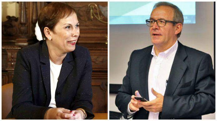 La presidenta de Navarra, Uxue Barkos y el ex jefe del servicio de Ginecología del Complejo Hospitalario de Navarra / Navarra