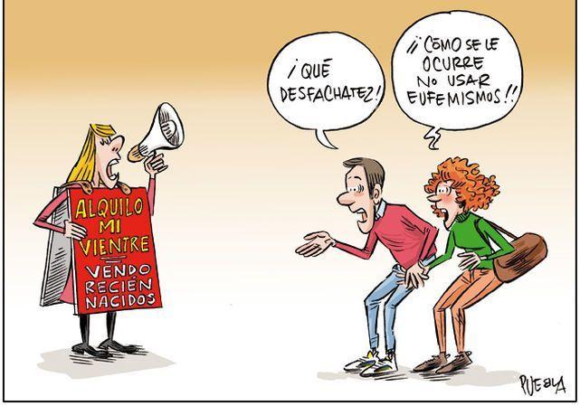 Viñeta de José Manuel Puebla en ABC sobre los vientres de alquiler